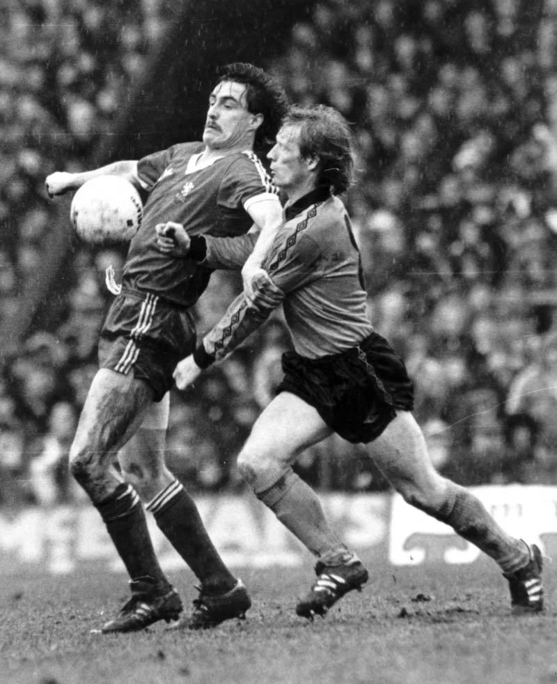 Willie Carr Up Close And Personal At Ayresome Park In 1981 As Wolves Middlesbrough Head For An FA Cup Quarter Final Replay
