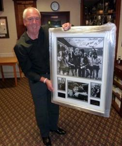 Geoff Palmer with a lovely keepsake.