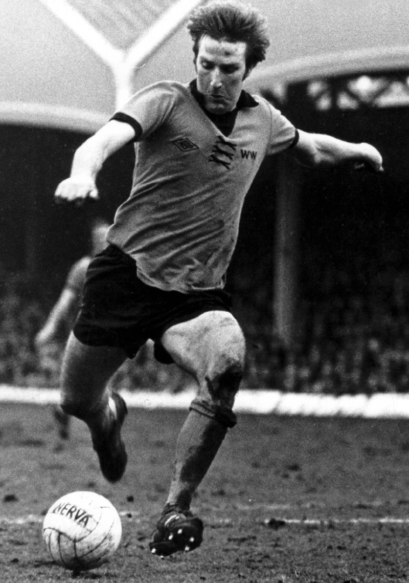 Steve Daley in action for Wolves in the late 1970s.