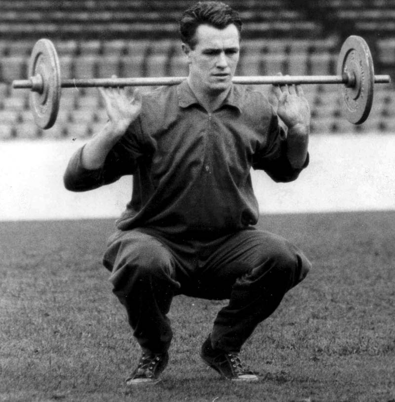 Building up his strength....Peter McParland.