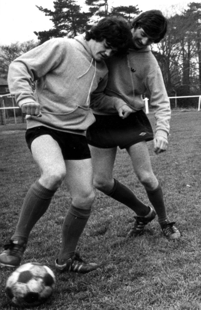 Wayne (right) in training at Castlecroft.