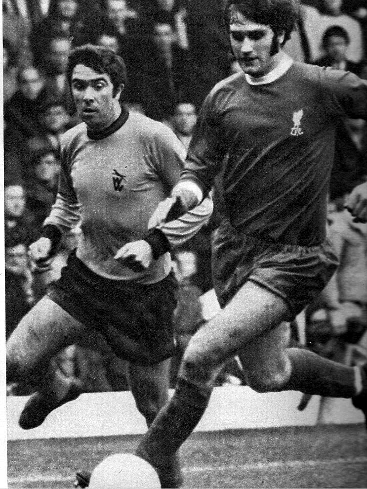 Bobby Gould in action against Liverpool. Like Leon Clarke, he had two spells at Wolves - and even banged in the goals for Coventry.
