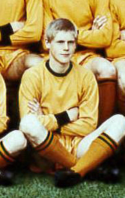 Ken Wade on a Wolves team photo in 1968-69.