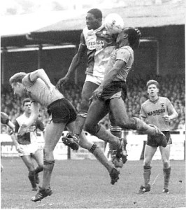 Wolves, in particular Mark Venus and Floyd Streete, under aerial threat in a 0-0 draw at Twerton Park in 1988-89.