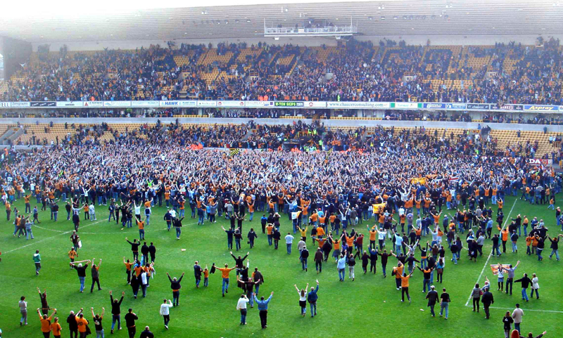 A flashback to how reaching the Premier League five years ago was savoured at Molineux.