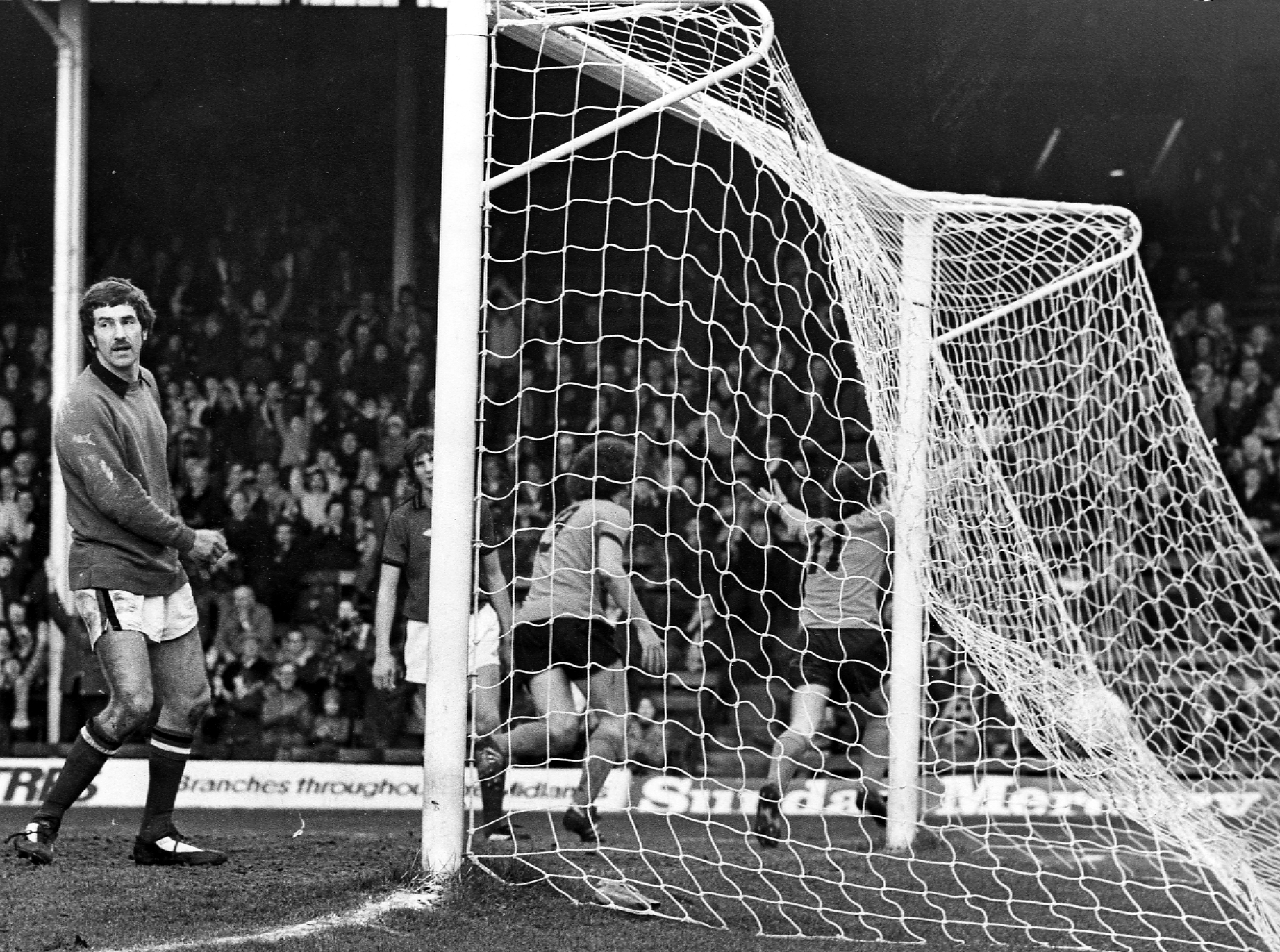 A goal against Hereford in 1977....cue celebrations in front of the South Bank, pursued by Alan Sunderland.