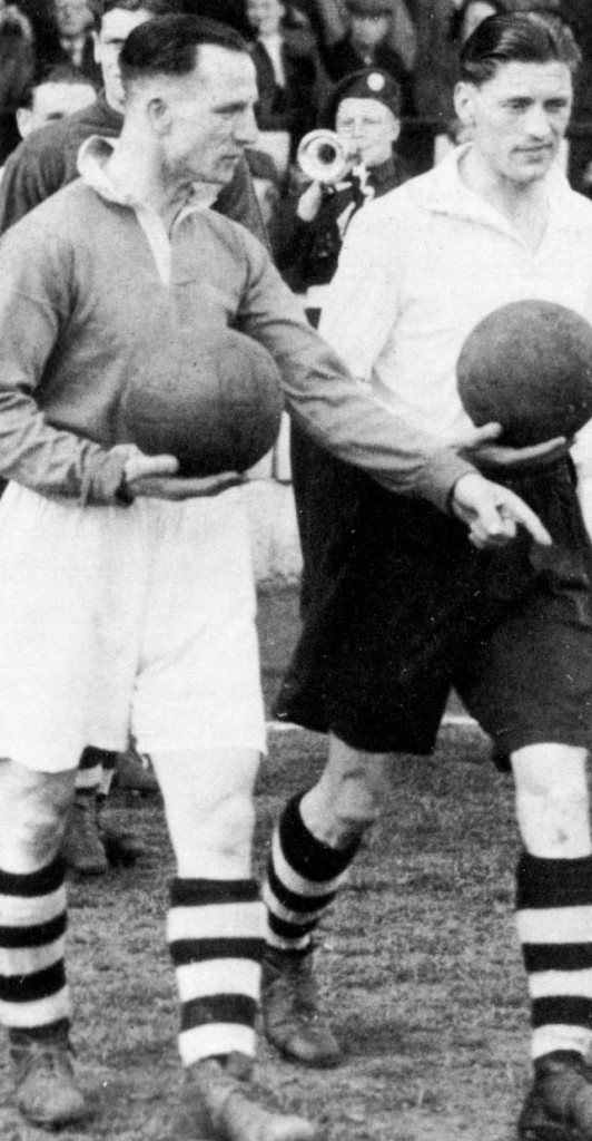 Andy Beattie (left)....the man who first brought Frank Wignall to Midlands football.
