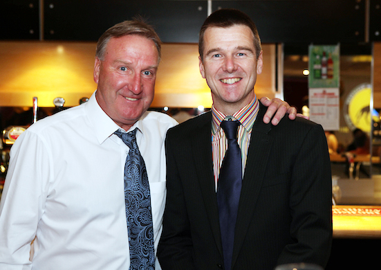 Suited and booted as usual....Steve Daley at a London Wolves dinner.