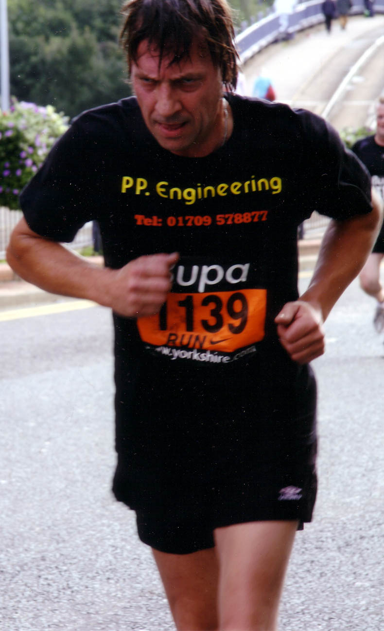Martin Patching on a charity run following his serious illness.