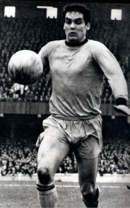 Wignall in Wolves colours at Coventry's old Highfield Road home.