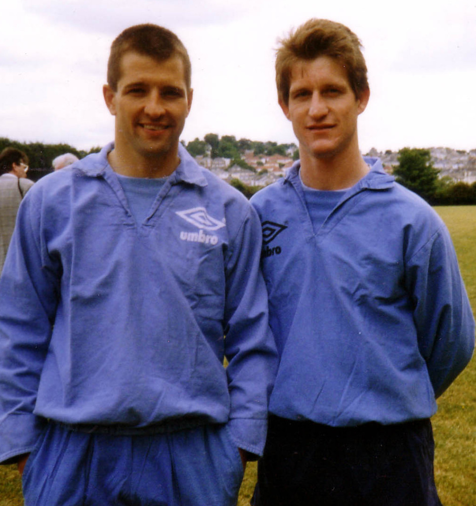 Steve Bull and Andy Mutch.......strike partners on Bully's climb through the lesser England teams.