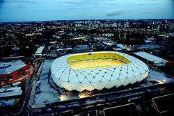 It looks some stadium - but Manaus is still sub-tropical and very steamy.