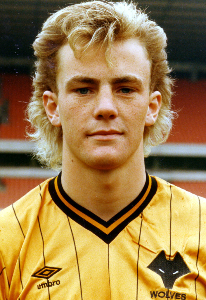 Nicky Clarke shows off what was some 1980s hairstyle!