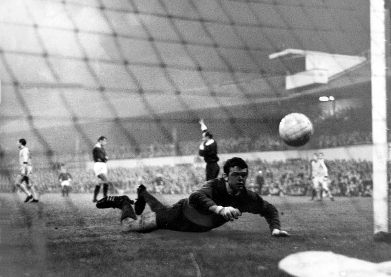 The Terry we remember.....Wharton leaves Cardiff's keeper gasping from the spot on his way to a hat-trick in September, 1966.