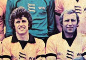 A younger O'Hara alongside Mike Bailey on a 1976 team photo.