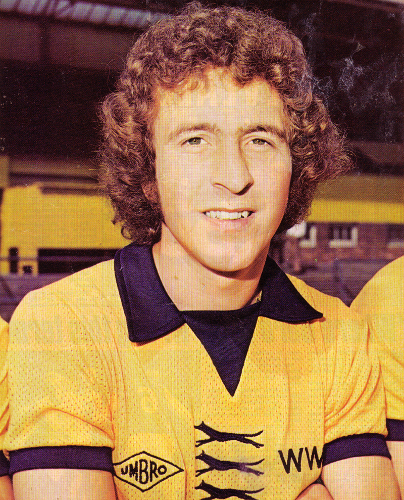 Alan Sunderland....on duty in the England v Wales under-21 game at Molineux in 1976-77.
