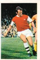 Bob McNab in action for Arsenal against Wolves.