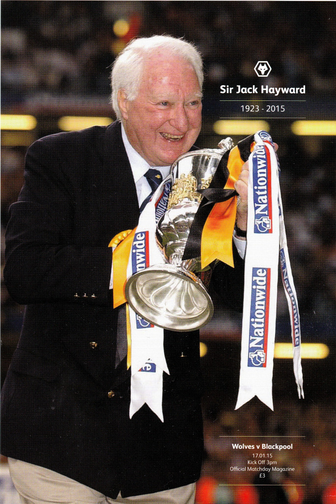 The front cover of yesterday's special commemorative programme.