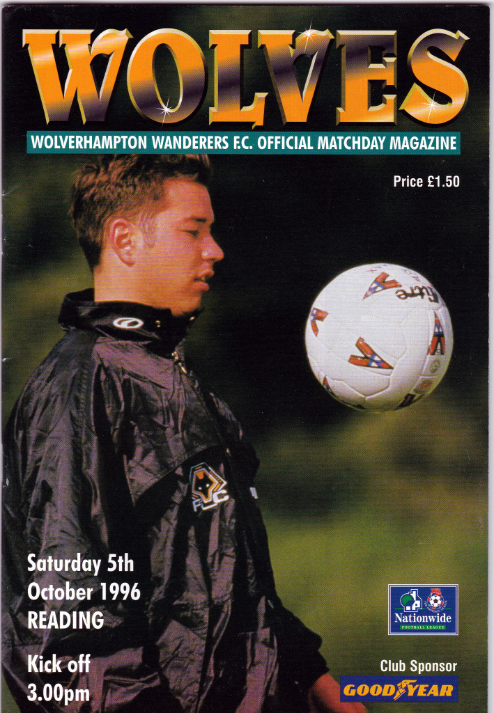 Darren Ferguson on the cover of a 1996-97 Wolves programme - by coincidence for a game against this weekend's Molineux visitors, Reading.
