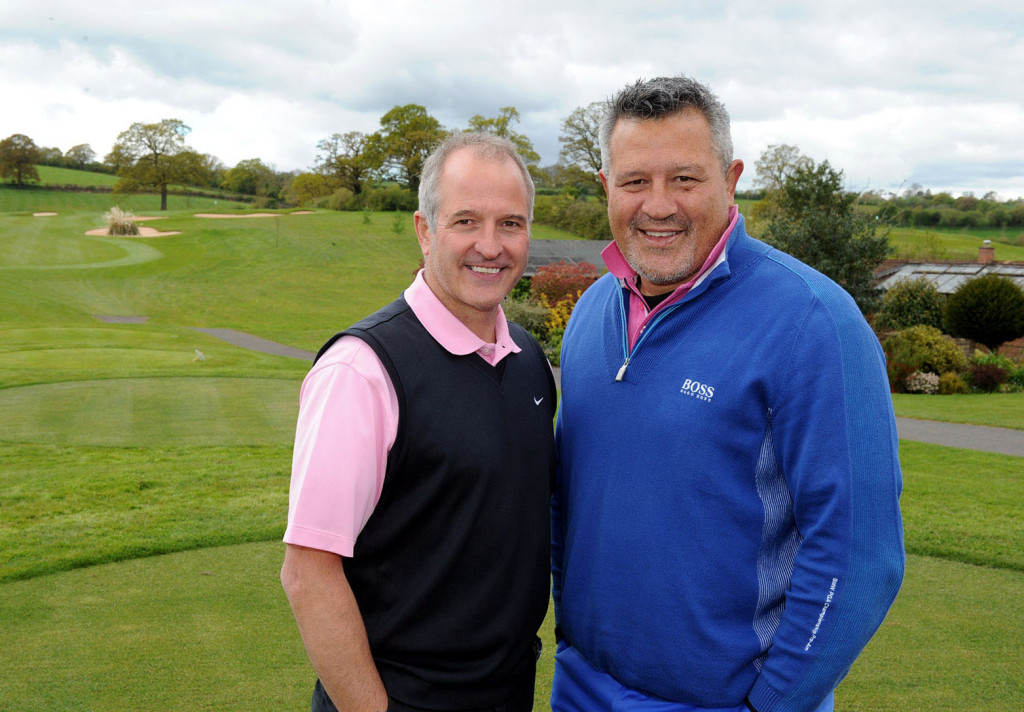 Steve Bull finds a formidable partner in New Zealand All Blacks star Zinzan Brooke.