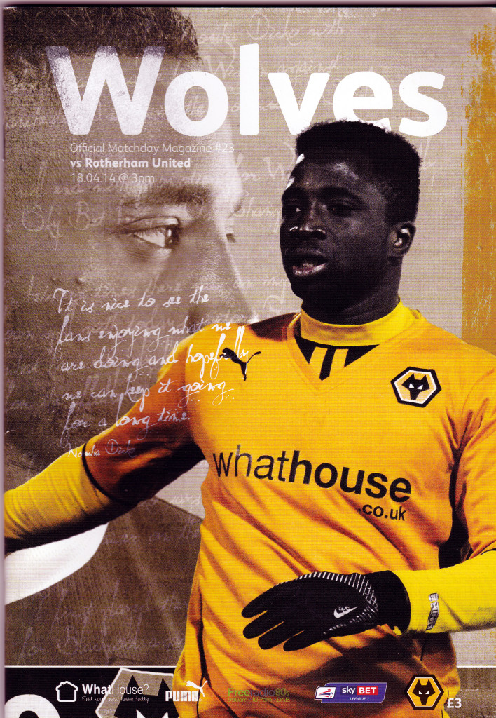 Nouha Dcko, as captured on the front page of Wolves' award-winning programme.