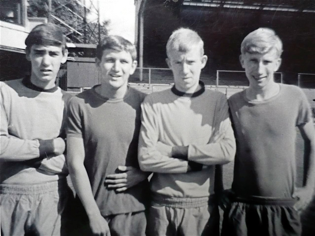 With John McAlle, Les Wilson and (far right) Bertie Lutton.