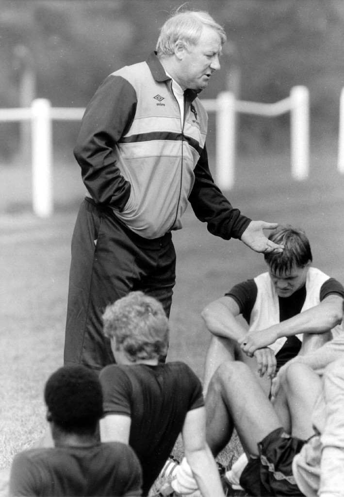 The Doc at work during his short, unhappy Molineux reign.