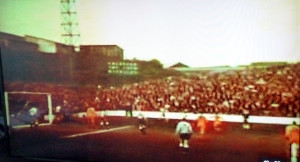 Wolves on the attack at Millwall on April Fool's Day, 1967......as taken from old footage of the game.
