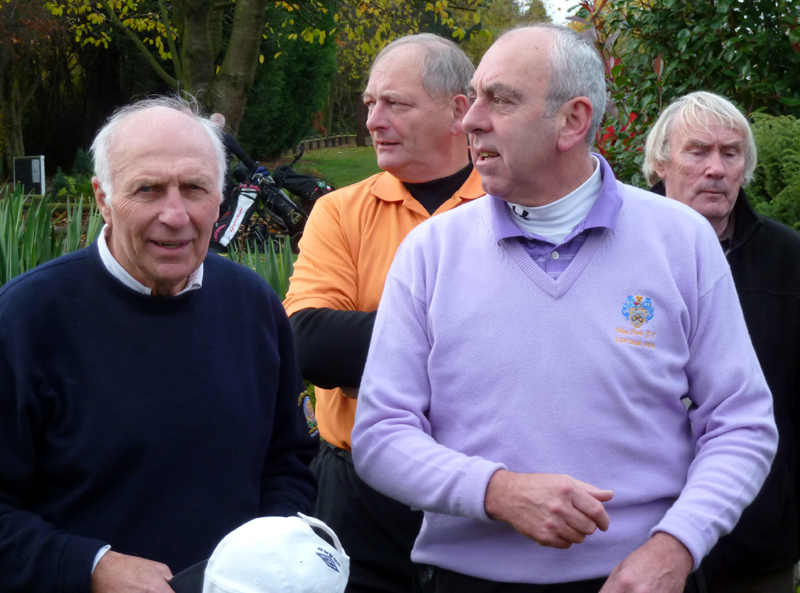 Mike Bailey, seen with Steve Kindon, Geoff Palmer and Dave Wagstaffe at a previous golf day, is being seen plenty back in the West Midlands now he is chairman of the Wolves Former Players Association.
