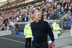 Jeff Wealands on parade at the Hull v Liverpool Premier League game in 2009.