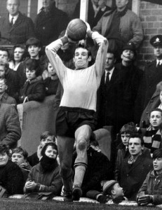 Woodruff, a recognised long throw expert, winds up to deliver at Molineux.