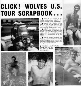 Generous coverage of the trip in the Wolves' match-day magazine.