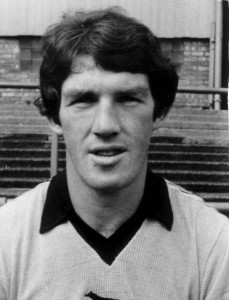 Billy Rafferty at Molineux when the ground looked a whole lot different.