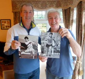 BR and JR, with signed photos.