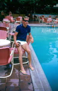 Barry Stobart chills out on Wolves' 1964 tour of the Caribbean.