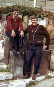 Thompson (left) and Doug Griffiths on a holiday trip to Weymouth in 1966. Alan Harris and Alun Evans also went.