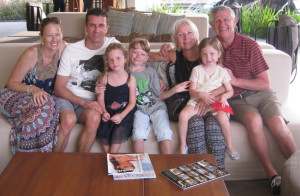 Relaxing with the family in Australia......
