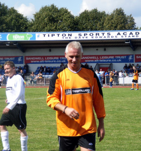 David Kelly in a charity match in recent years.
