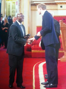 The proudest of days.....being congratulated by Prince William.