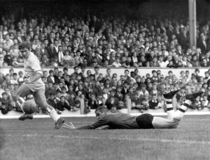 Did this help get him to Highbury? Bobby Gould scores for Coventry away to Arsenal.