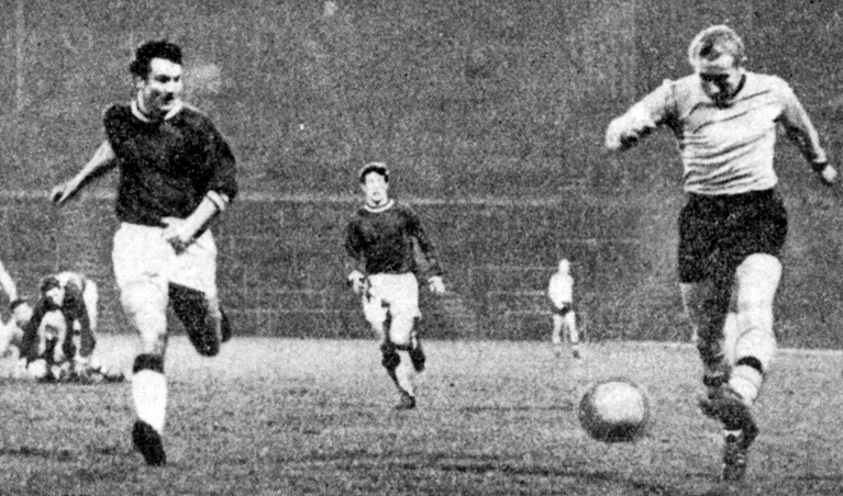 Dave Clements scores one of his four goals in Wolves' 6-1 FA Youth Cup slaughter of Birmingham in 1964.