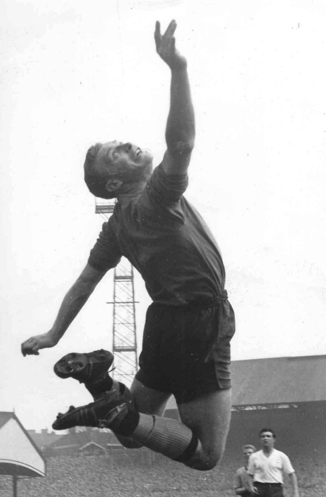 An athletic leap by Molineux's double title-winning keeper.