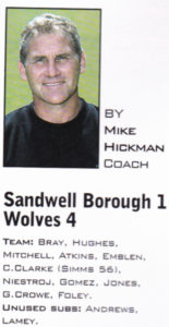 His last column in Wolves' programme.