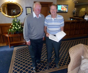 Ron Flowers with Roger Hunt at this gathering two years ago.