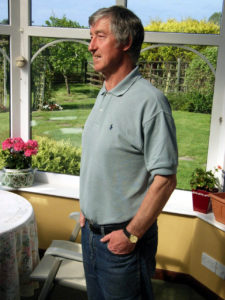 Hugh McIlmoyle at home in recent years.