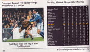 More evidence of a painful afternoon....from the 1997-98 Wolverhampton Wanderers Official Review.