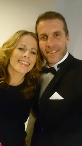 Will this gear get another airing during party season in the East Midlands? Mike Stowell with wife Rachel - a top performer in women's football.
