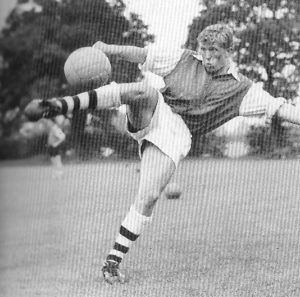 A young John Barnwell in his Arsenal days.