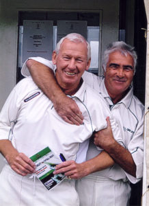 Bobby Gould with former Arsenal team-mate and his long-time friend, Bob Wilson.