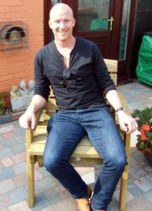 Neil Emblen relaxing.